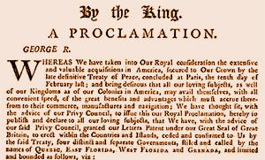 backstory proclamation 1763